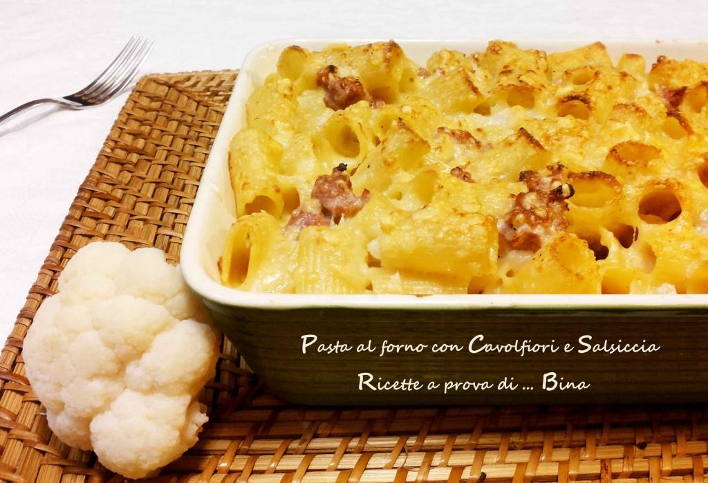 Pasta al forno con Cavolfiori e Salsiccia - Ricette a prova di ... Bina