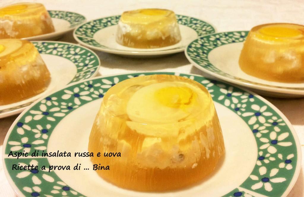 Aspic di insalata russa e uova - ricetta antipasto