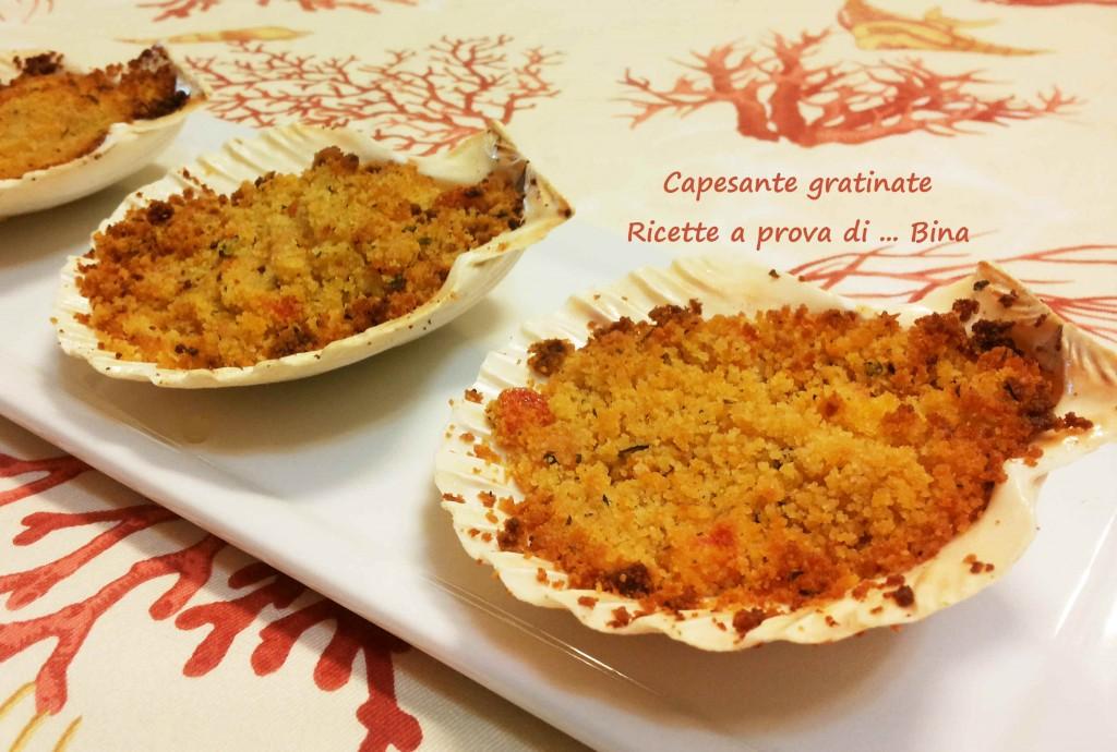 capesante gratinate - ricetta semplice