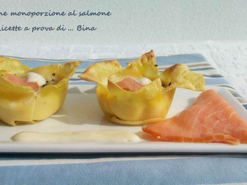 Lasagne al salmone monoporzione