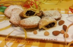 Ravioli dolci alle mandorle e cacao - ricette a prova di Bina