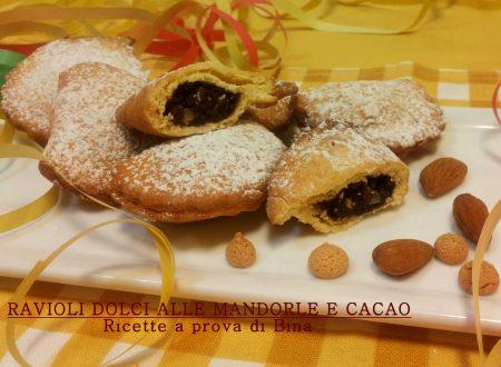 Ravioli dolci alle mandorle e cacao