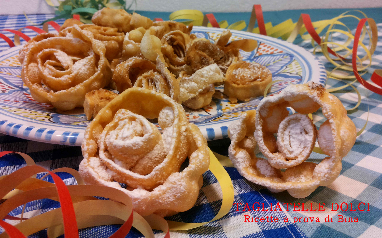 Tagliatelle dolci di carnevale ricette a prova di bina for Ricette dolci di carnevale