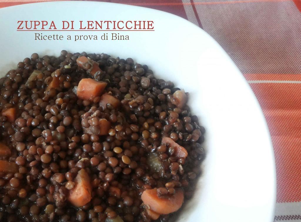 Zuppa di lenticchie - ricetta leggera