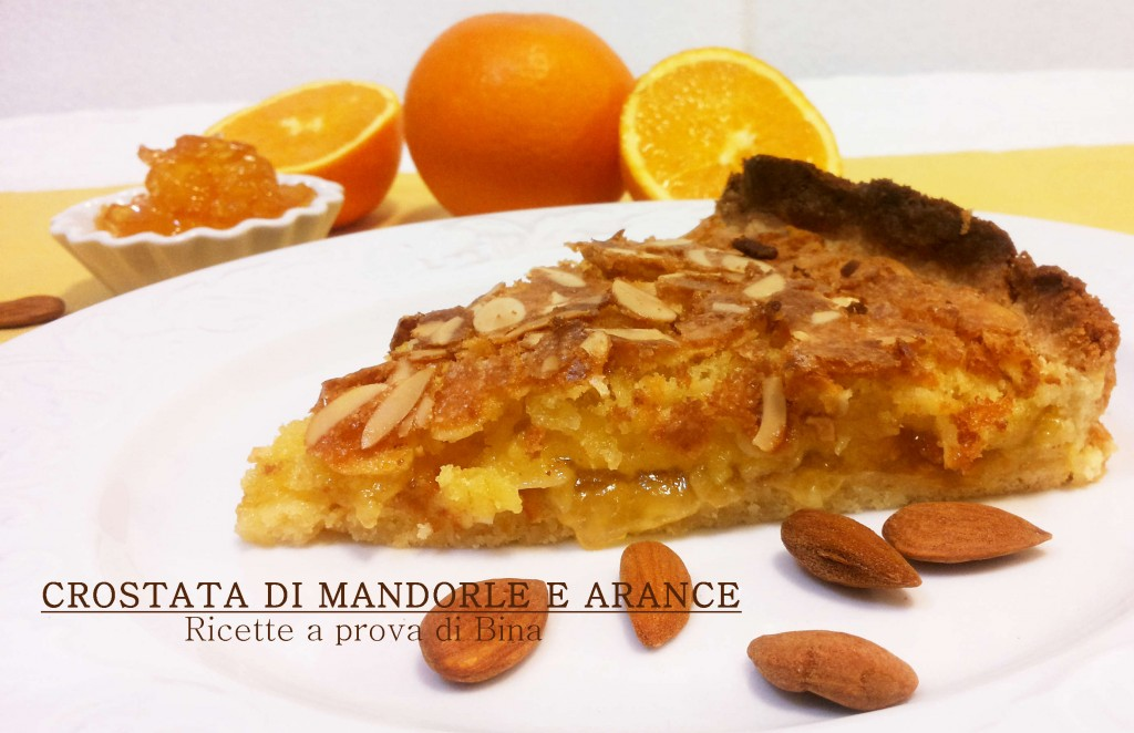 crostata di mandorle e arance - ricette a prova di bina