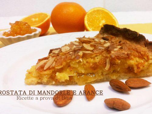 Crostata di mandorle e arance