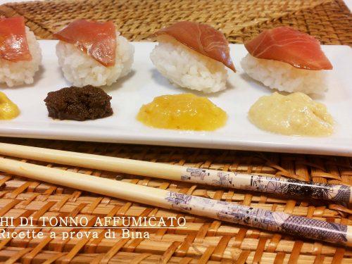 Sushi di tonno affumicato
