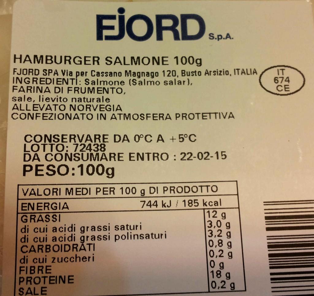 hamburger di salmone fjord