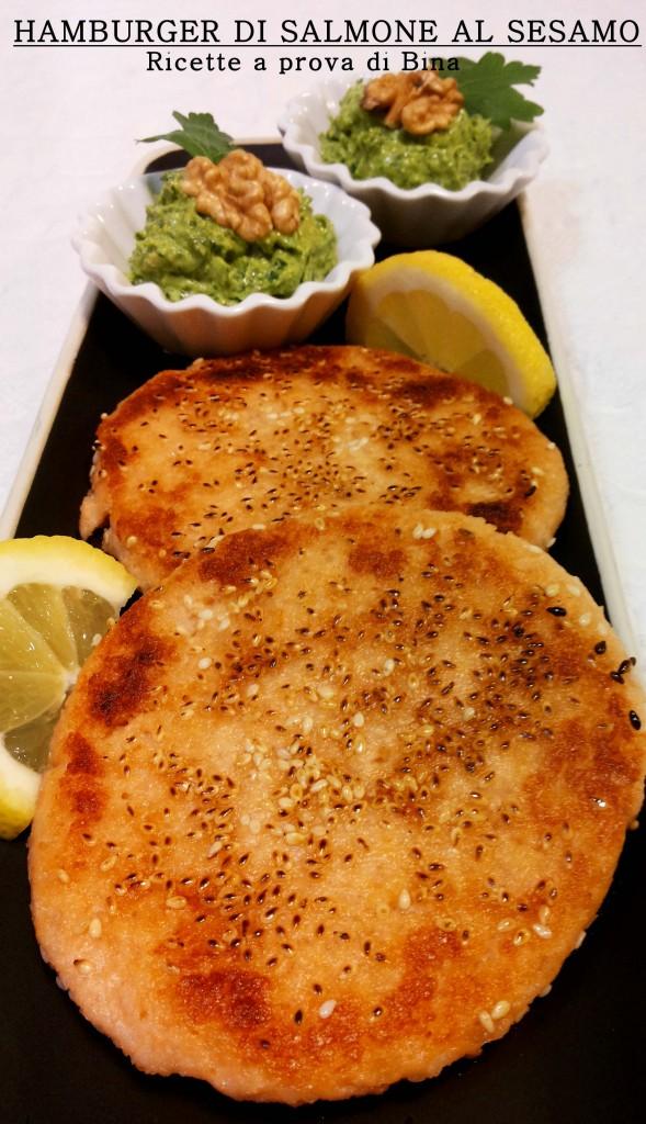 Hamburger di salmone al sesamo - ricette a prova di Bina