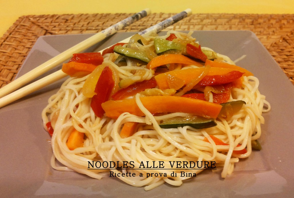 Noodles alle verdure ricette a prova di bina for Ricette con verdure