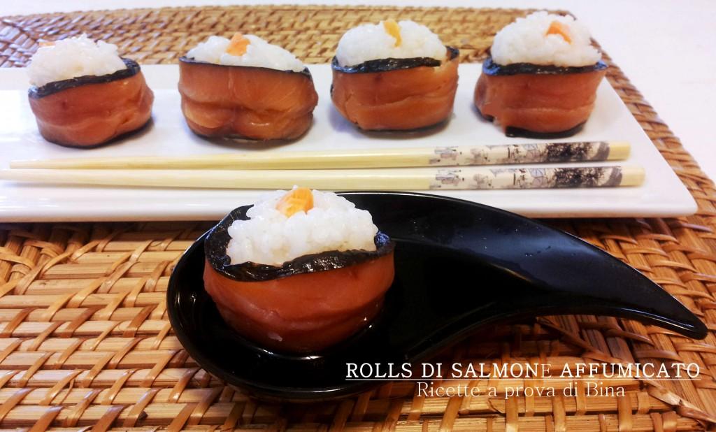 Rolls di salmone affumicato e alga nori - ricette a prova di Bina