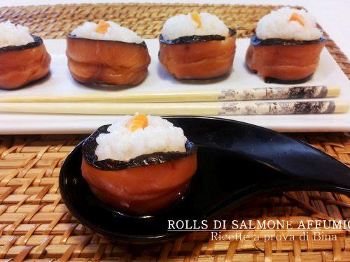 Rolls di salmone affumicato