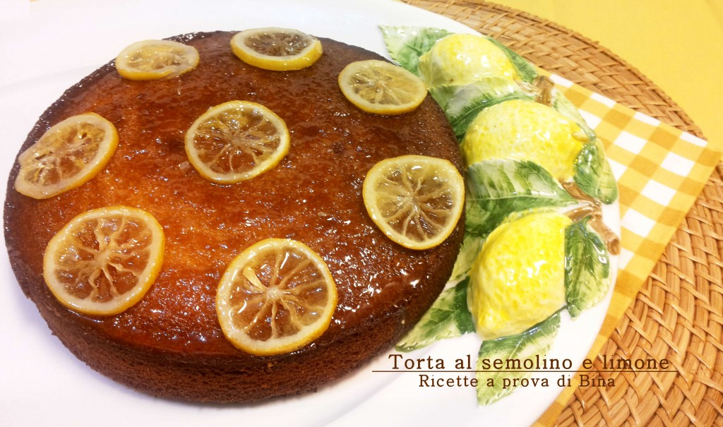 Torta soffice al semolino e limone - ricette a prova di bina