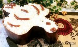 Colomba con farina di castagne e crema di marroni