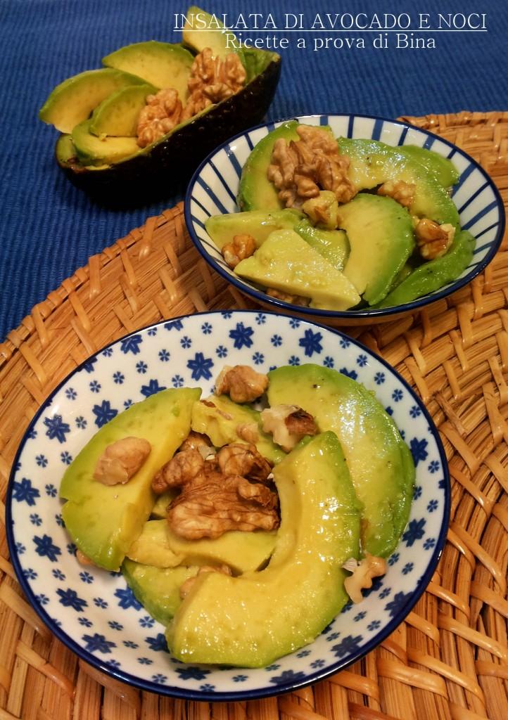 insalata di avocado e noci - ricette a prova di Bina