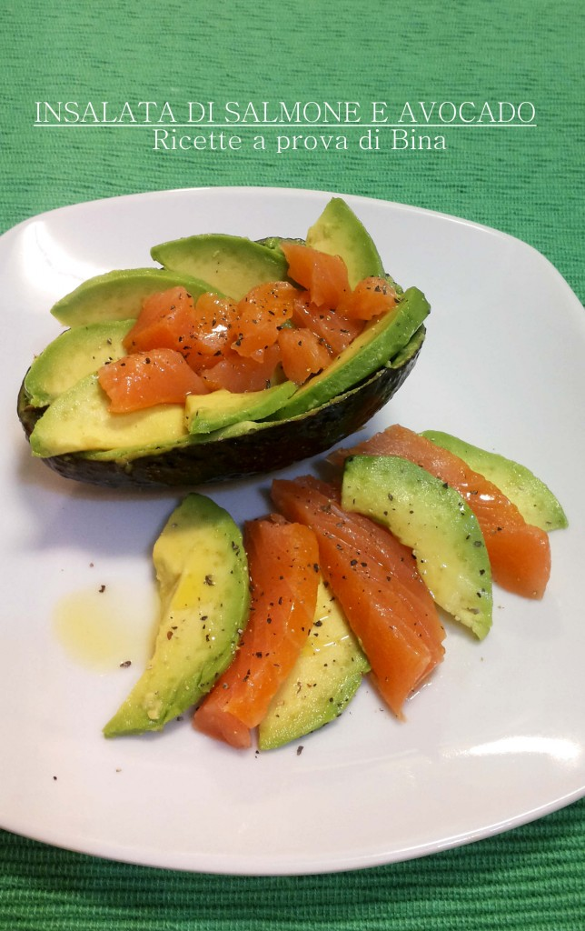 Insalata di salmone e avocado - Ricette a prova di Bina