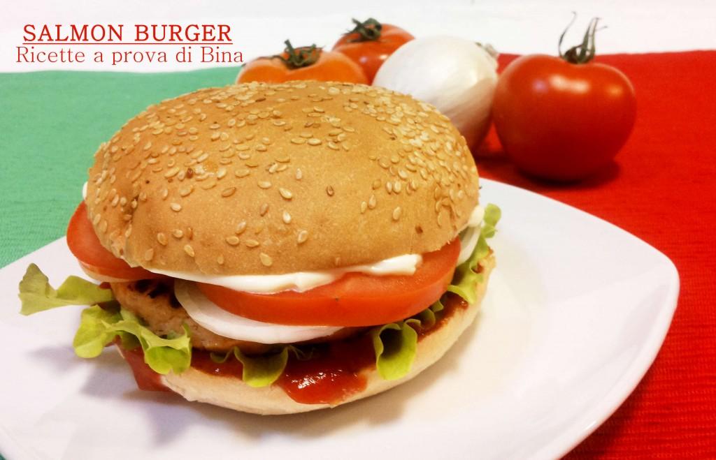 Salmon Burger - italian fast food