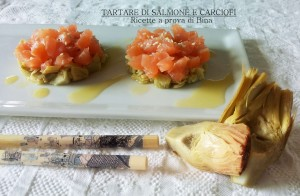 tartare di salmone e carciofi - ricette a prova di Bina