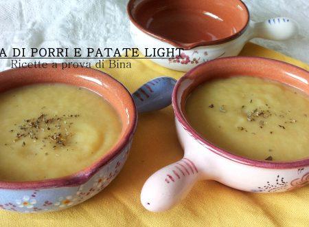 Crema di porri e patate light