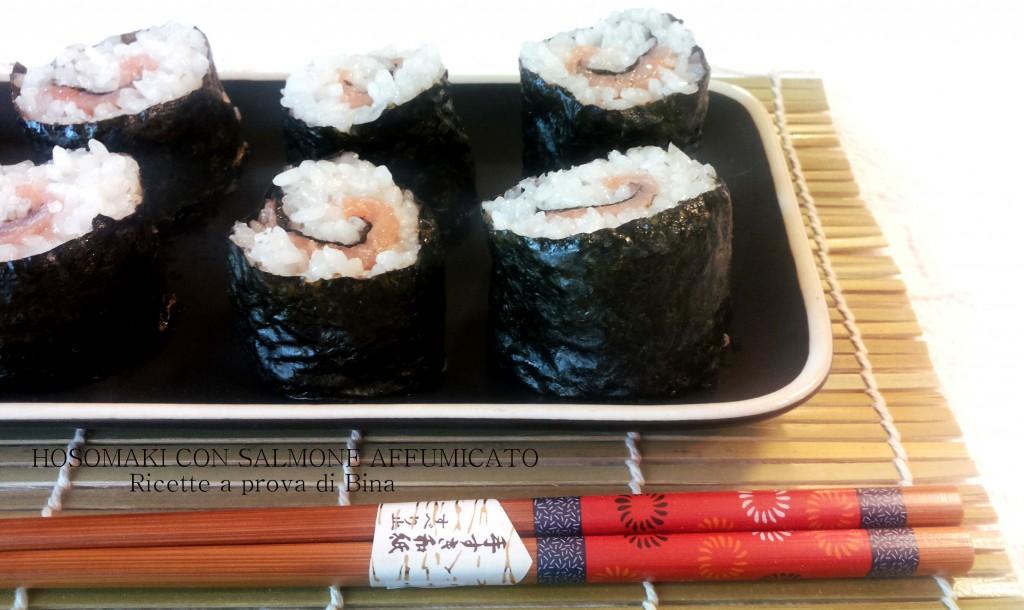 hosomaki con salmone affumicato - ricette a prova di Bina