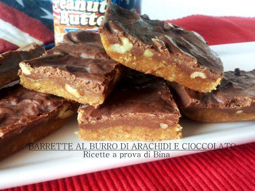 Barrette al burro di arachidi e cioccolato