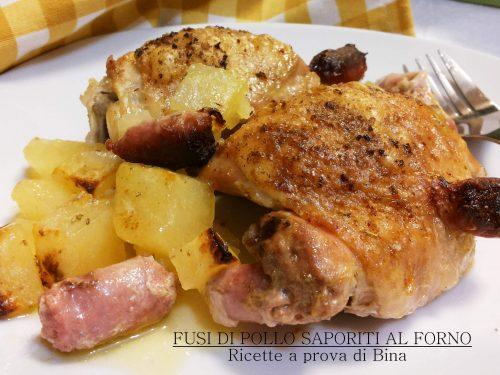 Fusi di pollo saporiti al forno