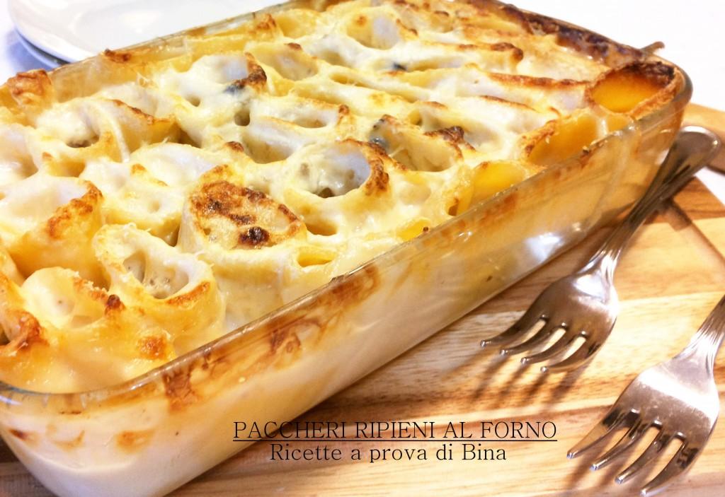 paccheri ripieni al forno - ricette a prova di Bina