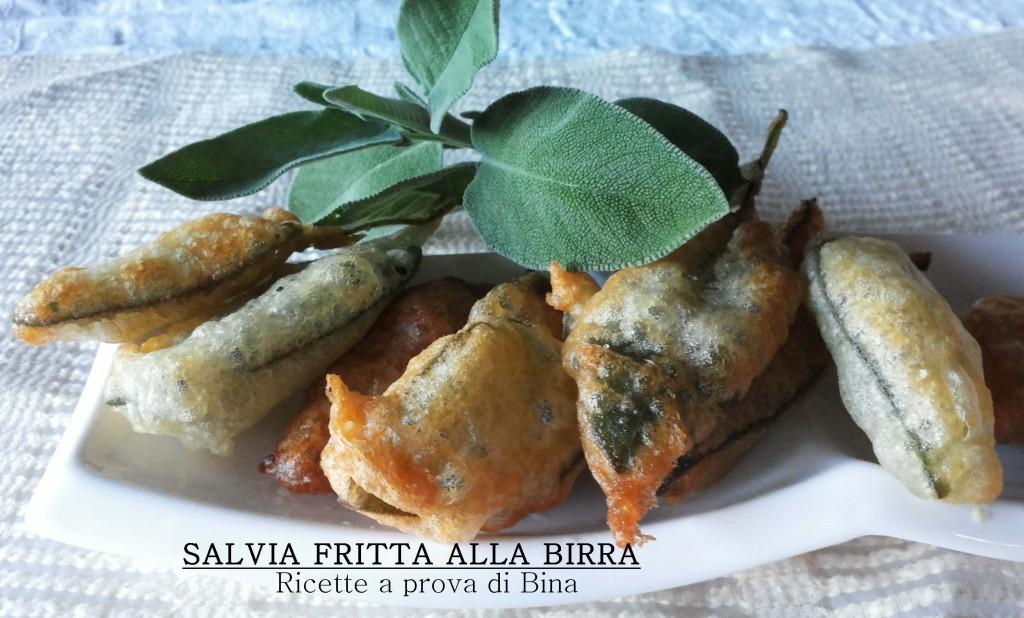 SALVIA FRITTA       ALLA BIRRA -  Ricette a prova di Bina