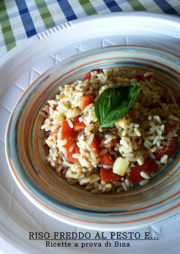 Riso freddo al pesto ricette a prova di bina for Ricette di riso