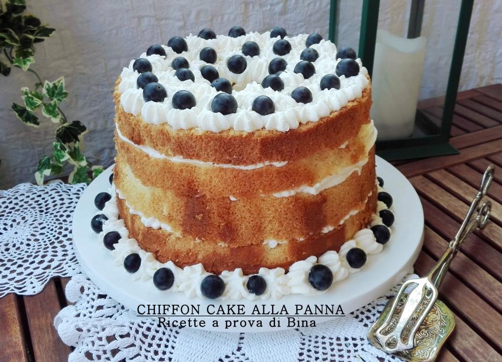 CHIFFON CAKE ALLA PANNA - Ricette a prova di Bina