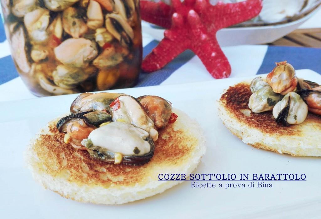 COZZE SOTT'OLIO IN BARATTOLO - Ricette a prova di Bina