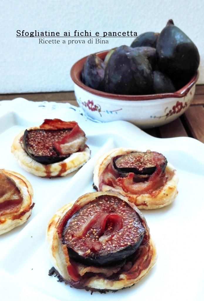 Sfogliatine ai fichi e pancetta - Ricette a prova di Bina