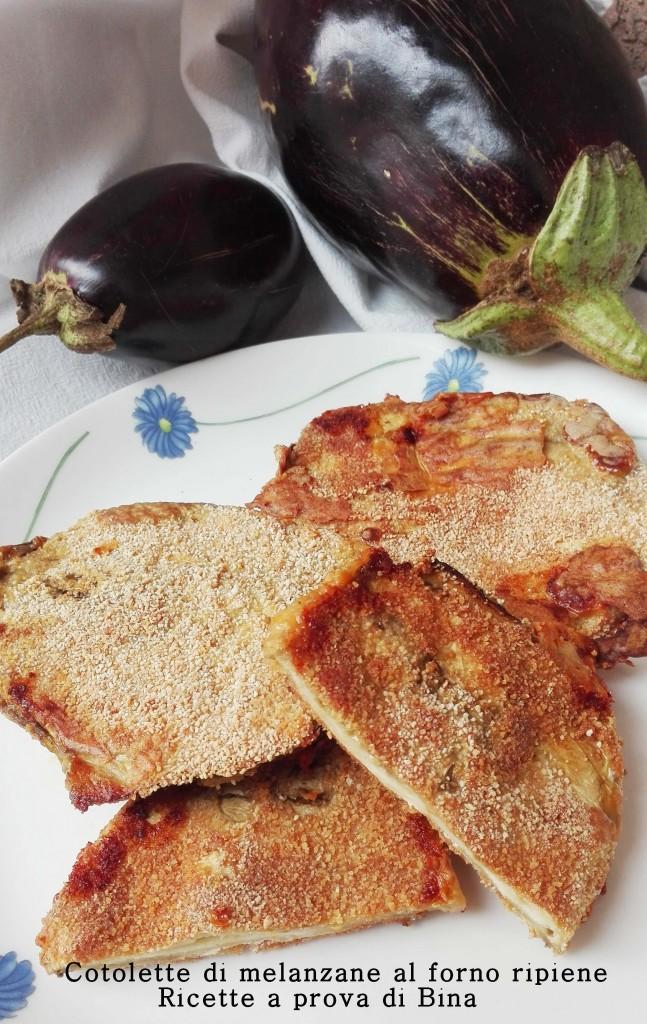 Cotolette di melanzane al forno ripiene - Ricette a prova di Bina
