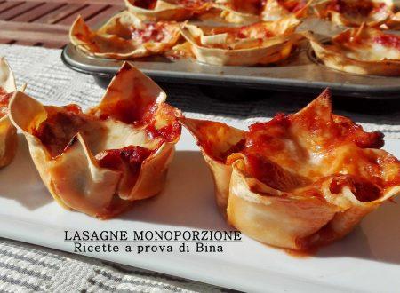 Lasagne monoporzione