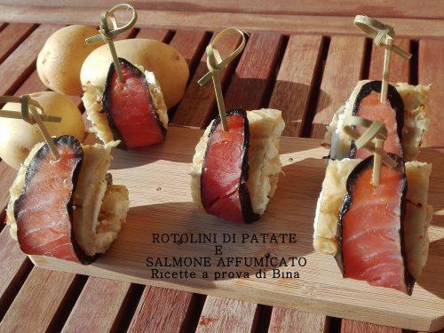 Rotolini di patate e salmone affumicato