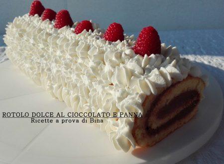 Rotolo dolce al cioccolato e panna
