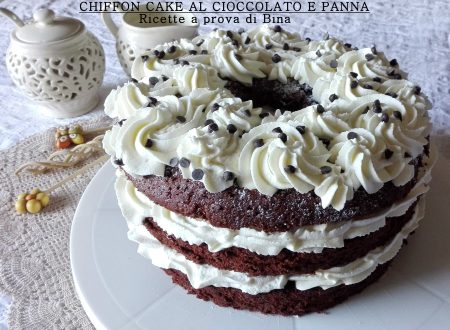 Chiffon cake al cioccolato e panna