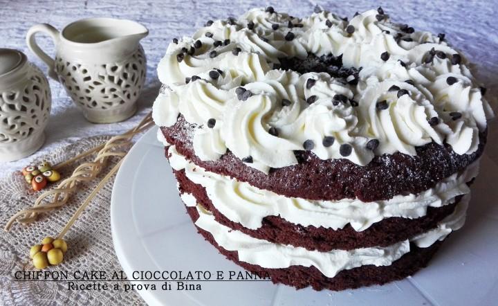 CHIFFON CAKE AL CIOCCOLATO E PANNA - Ricette a prova di Bina