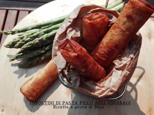 Involtini di pasta fillo agli asparagi
