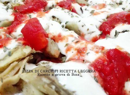 Pizza di carciofi ricetta leggera