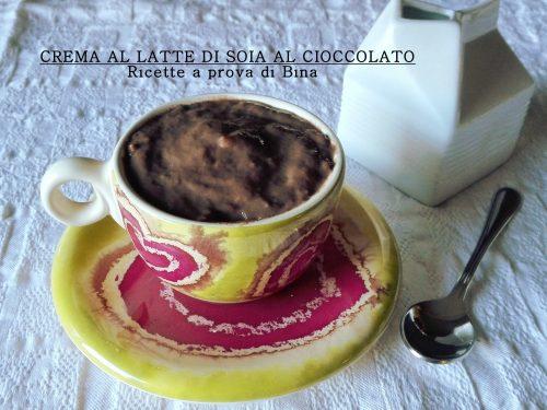 Crema al latte di soia al cioccolato