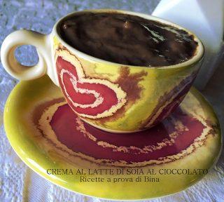 crema al latte di soia al cioccolato - ricette a prova di bina