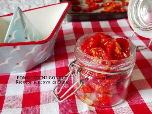 Ricette pomodorini confit