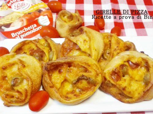 Girelle di pizza al pomodoro e olive