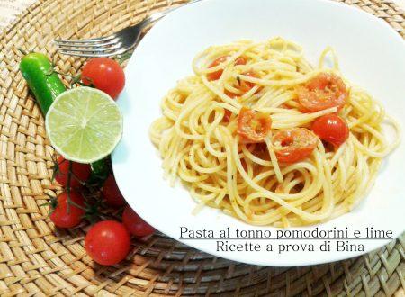 Pasta al tonno pomodorini e lime