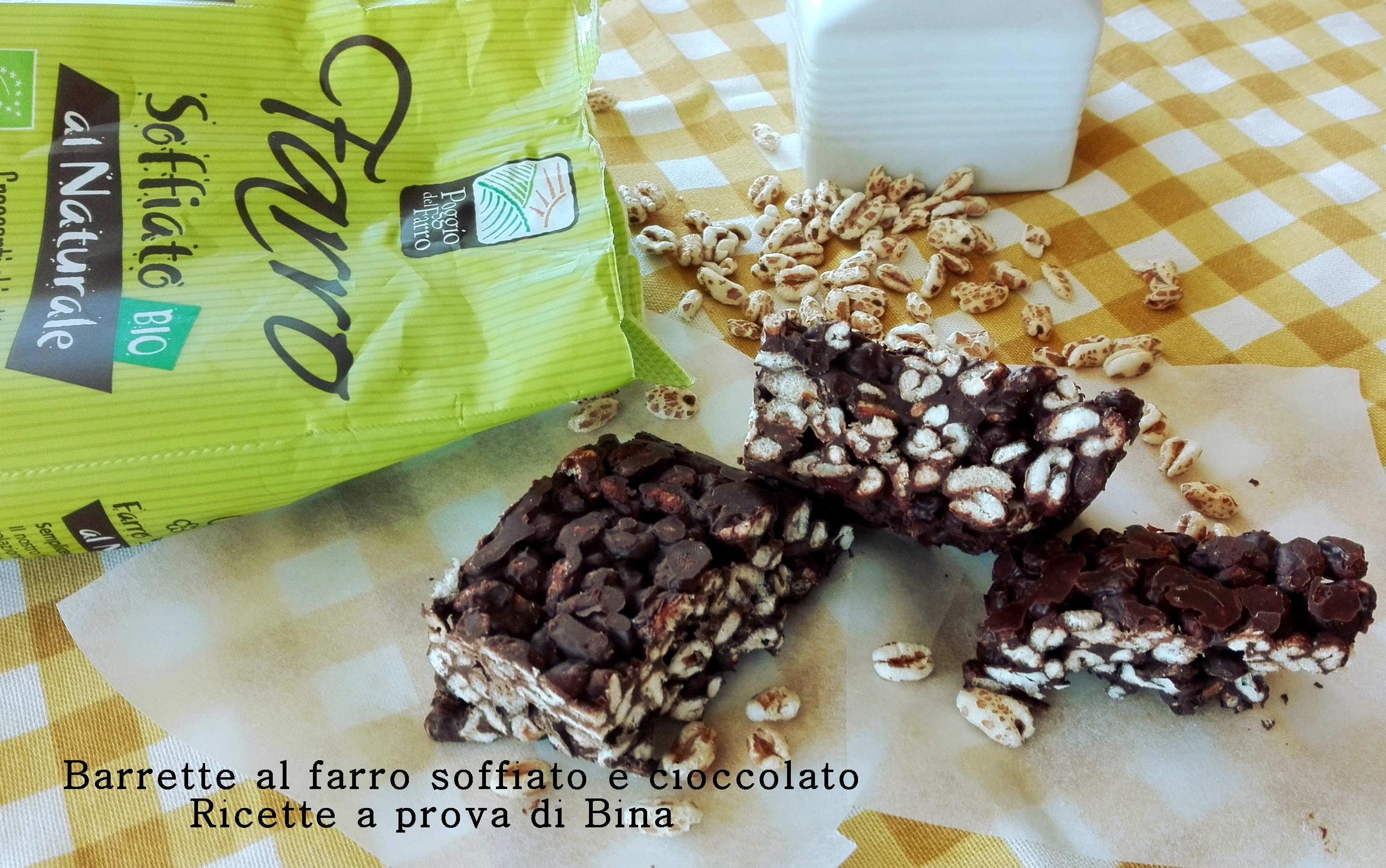 Barrette al farro soffiato e cioccolato - Bagno di cioccolato ...