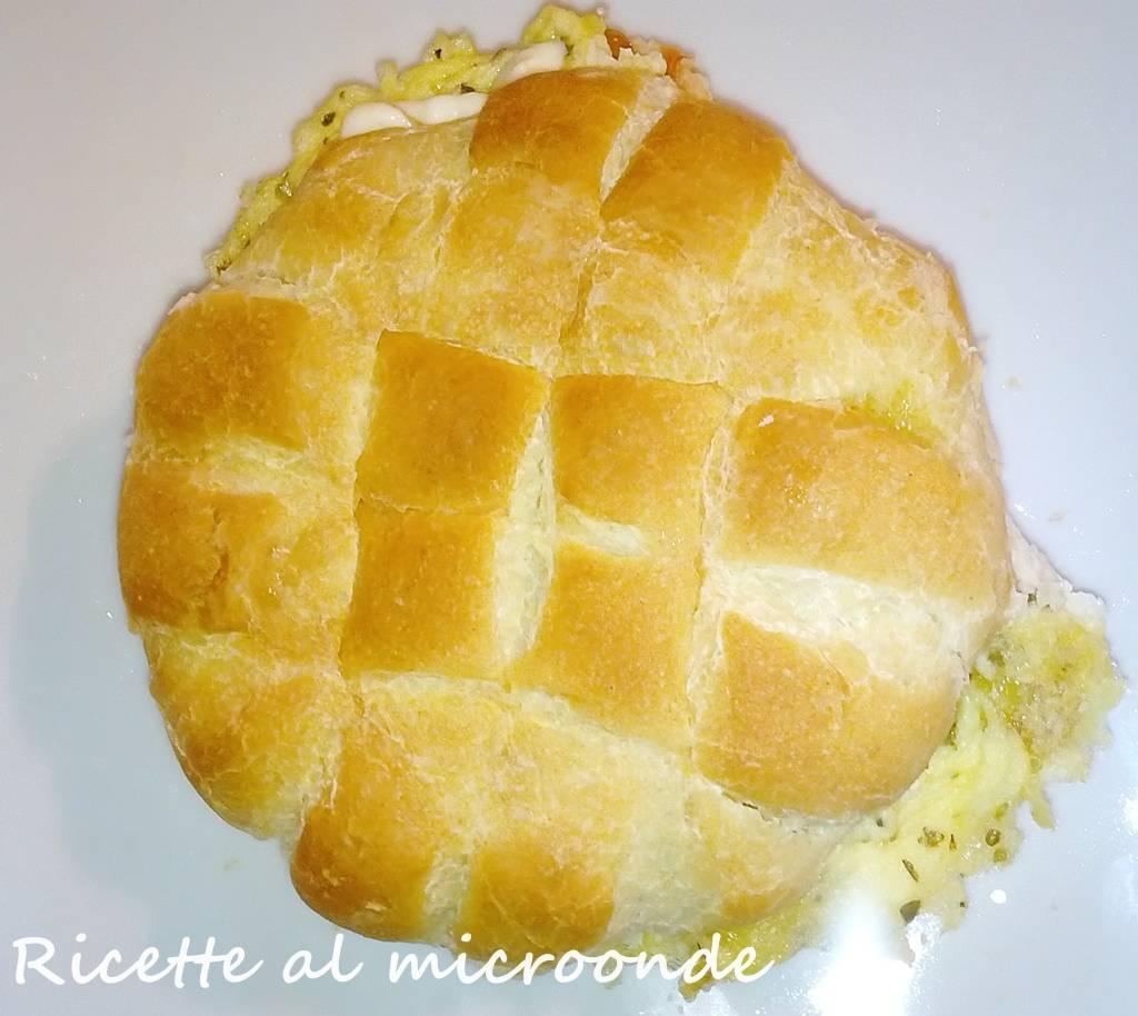 Muffuletta con frittata alle patate (al microonde)