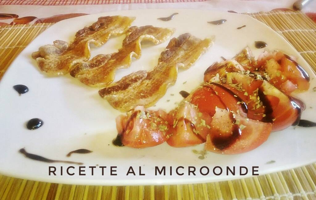 pancetta croccante al microonde ricette al microonde