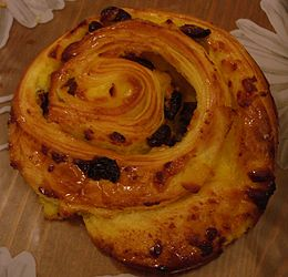 Pain aux raisins - Pane  dolce all'uvetta