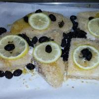 verdesca al forno con olive nere